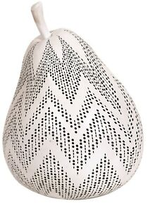 18cm-Decorative-Fruit-Blanc-Perfore-Poire-Grand-Poire-Decor-Maison