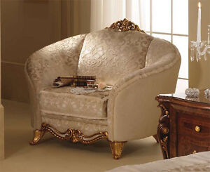 Luxus sessel  Luxus Sessel Donatello Stilmöbel Italien Arredoclassic Beige Gold ...