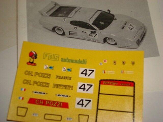 FERRARI 512 BB CROCKFORDS LE MANS 1980 1//43 DECALS