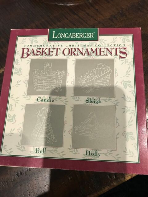 Longaberger Pewter Christmas Ornaments - 1994 - EUC - Free ...