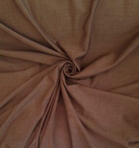 12-Metre-Roll-Laura-Ashley-Chocolate-Canvas-Weave-Cotton-Curtain-Fabric