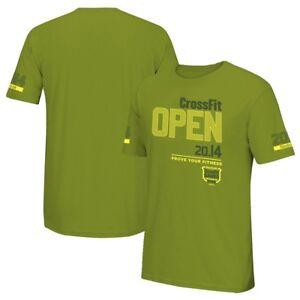 Reebok-Men-039-s-CrossFit-Open-2014-034-Prove-Your-Fitness-034-Logo-Olive-T-Shirt