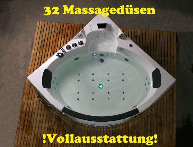 Whirlpool Eckbadewanne Badewanne Wanne für 2 Personen 152x152 oder 157x157