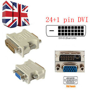 DVI-D-DVI-MALE-24-1PIN-TO-VGA-FEMALE-SVGA-15PIN-VIDEO-MONITOR-ADAPTER-CONVERTER