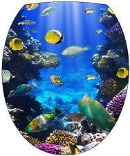 Stickers abattant de WC déco Aquarium 35x42cm Réf 384