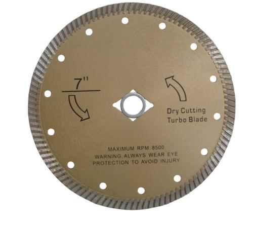 "7/"" Diamond Dry Cutting Turbo Blade for Granite"