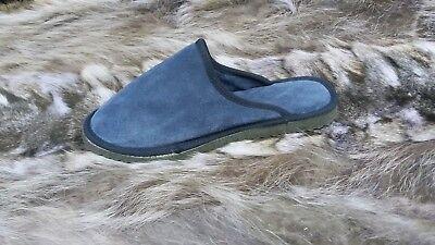 Aspirante N&a Greco Artigianale Vera Pelle Μen's Pantofole, Stile Classico - Camoscio Colore Veloce