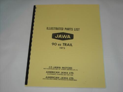 Illustrated Parts Manual 1973 CZ JAWA Trail 90cc Book Catalog ...