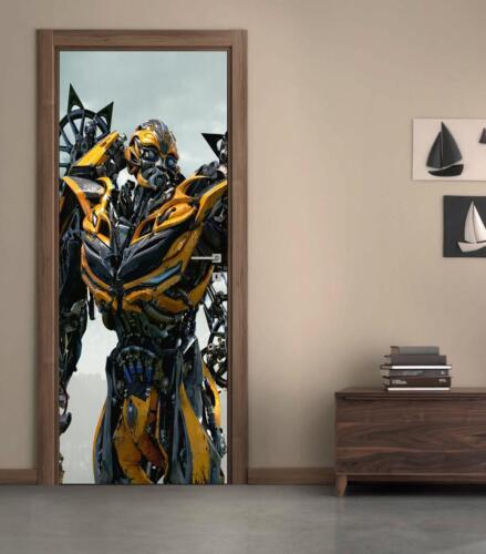 Transformers Bumblebee Autobot DOOR WRAP Removable Decal Wall Sticker Mural D174