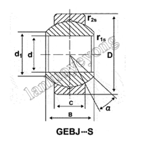 New 1pc GEBJ18S Spherical Plain Radial Bearing 18x35x23mm