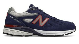designer fashion 3d336 9de3d Details about New Balance Men's 990 RUNNING Made in USA Shoes Navy/Red  M990BR4 c