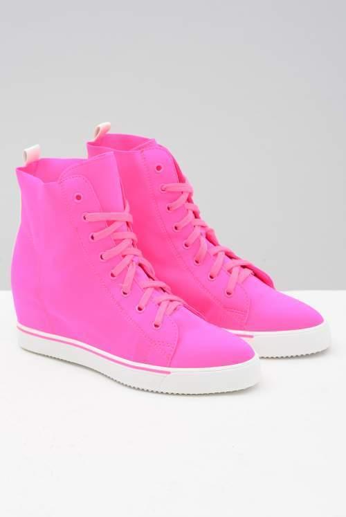 555860c01e4 Lu Boo IWETTA Pink Neon Lycra Ankle BOOTS UK 5 EU 38 Ln29 65