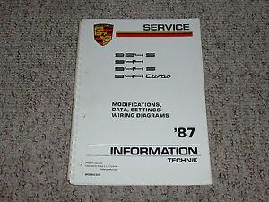 1987 porsche 924s 924 s 944s 944 s turbo wiring diagrams service rh ebay com Porsche Wiring Diagrams for 86 Porsche 944 Wiring-Diagram