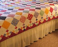 Diamond Patch Baby Quilt Pattern NEW~9-patch~Easy & Fast~Scrappy~queen twin #415