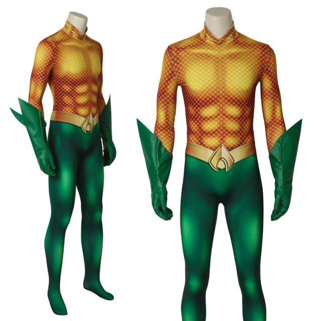 Aquaman Cosplay Jumpsuit Aquaman Arthur Curry Costume Halloween Adult Costume