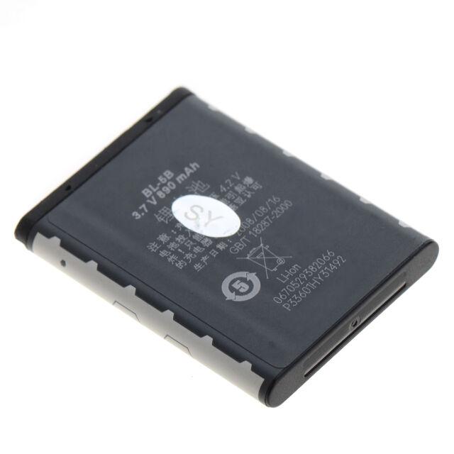 3.7V 890mAh Battery BL-5B BL5B For Nokia 6020 6060 5140 5140i 5300 N80 N75
