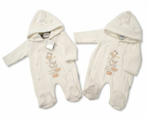 Premature Baby Clothes Boy Girl Coat All in one cream 5-8lbs Newborn 0-3 Months
