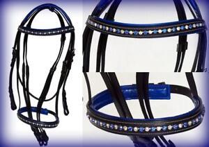 Caballo-Negro-Azul-Blanco-Cinta-Cristales-Ingles