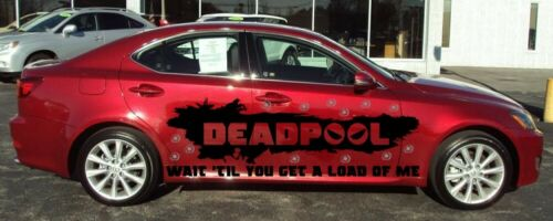 DEADPOOL VINYL GRAPHIC DECAL SIDE CAR TRUCK