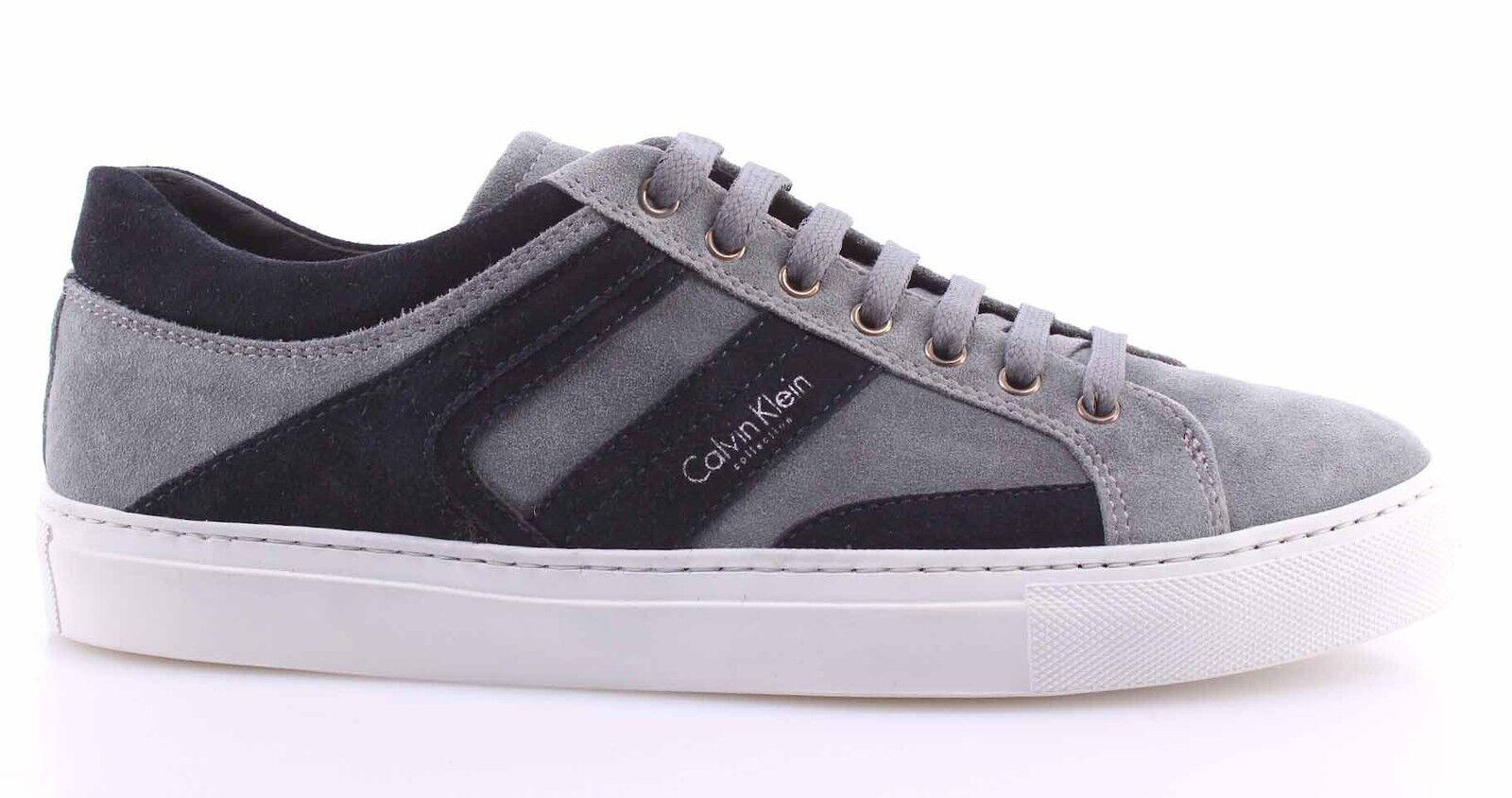 Herren Schuhe Sneakers Wildleder CALVIN KLEIN Collection Underground Wildleder Sneakers Grau Blau b2c30b