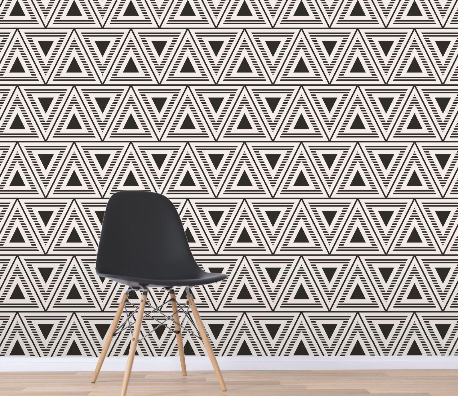 3D Modern Style Triangle 33 Wallpaper Mural Wall Print Decal Indoor Murals AU