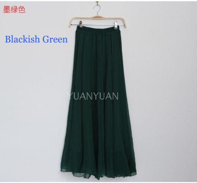 BOHO Beach Chiffon Dance Long Maxi Skirts Asymmetrical Full Circle Party Dress