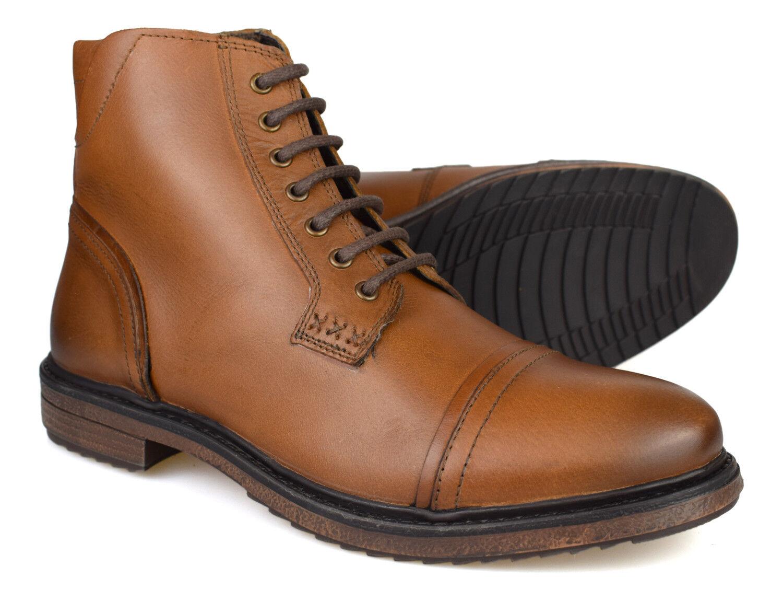 Silber Street London Turner Tan Leather Mens Formal Stiefel