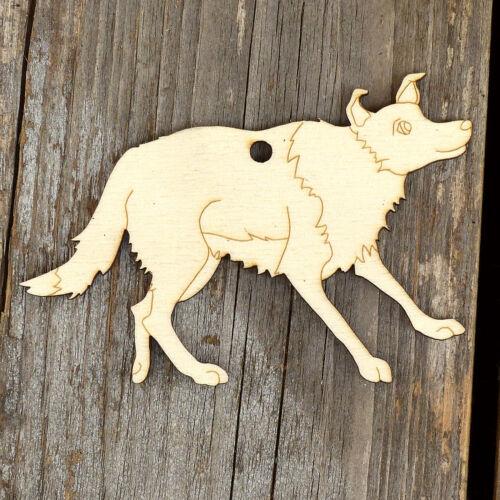 10x legno collie cane in piedi Craft forme 3mm compensato
