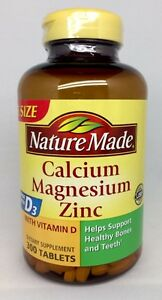Details About Nature Made Calcium Magnesium Zinc Vitamin D3 Dietary Supplement 300 Tablets F S