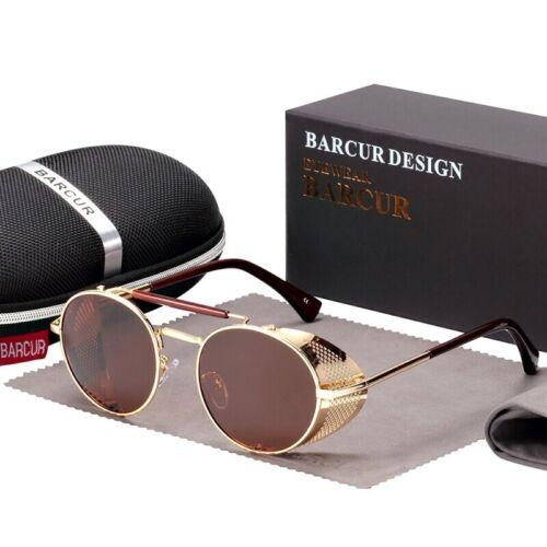 Men Women sunglasses Luxury Retro Steampunk New Style UV400 Polarized Vintage