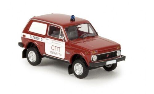 #27235 Brekina Lada Niva einer russischen Feuerwehr 1:87