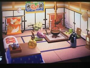 ANIMAL CROSSING NEW HORIZONS Japanese Room Furniture Set ... on Living Room Animal Crossing New Horizons  id=77949