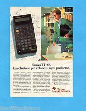 TOP990-PUBBLICITA'/ADVERTISING-1990- TEXAS INSTRUMENT - TI-68