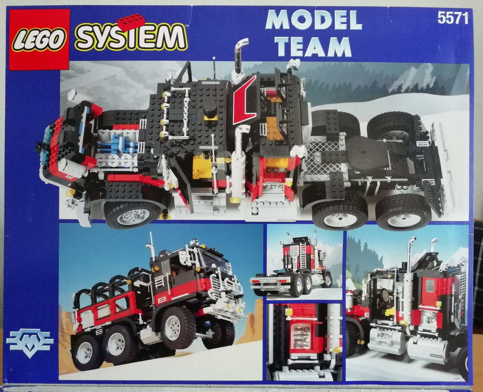 LEGO 5571  Giant Truck  schwarz Cat  Model Team (1996) mit Box und Bauanleitung
