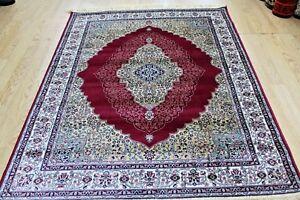 Traditional-Rug-Red-Silk-Like-Machine-Washable-Living-Room-BedRoom-Carpet-Rugs