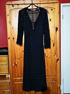 Ladies-long-black-two-piece-dress-inside-with-lining-Size-10-Together