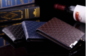 Men's Luxury Quality Top Leather money Wallet Credit Card Holder UK STOCK