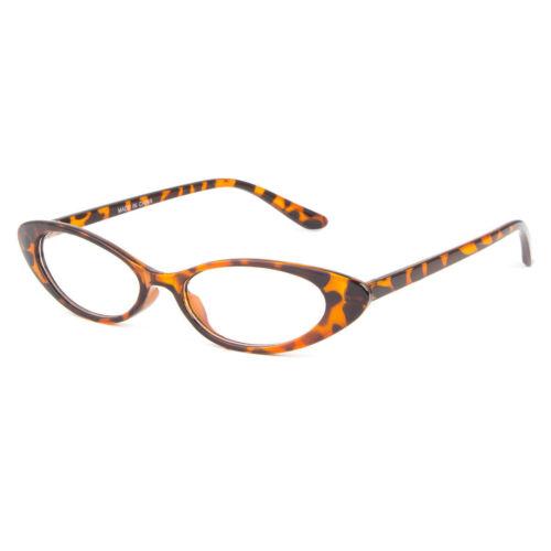Women CLASSIC VINTAGE RETRO CAT EYE STYLE CLEAR LENS EYE GLASSES Small Frame 50s