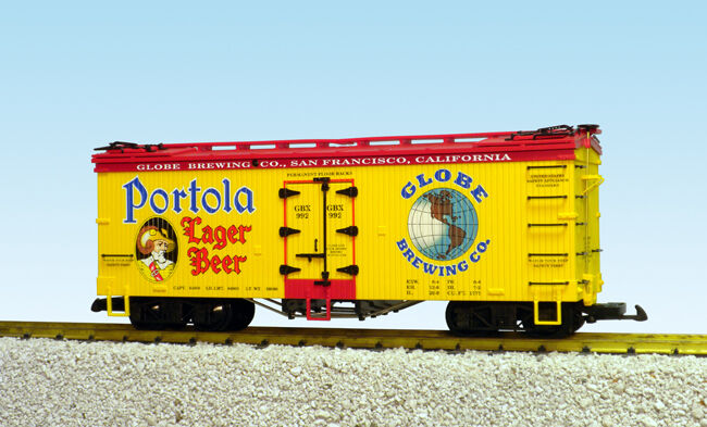 USA Trains G Escala U.S. hierba coche R16439 Portola Lager Beer – Amarillo Rojo