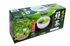 KIRKLAND Japanese Sencha and Matcha Green Tea Bags 100% Made in Japan  50/100/20