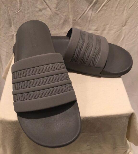 super popular 1c83a b5640 Adidas Mens Adilette Cloudfoam Slides (S80977) GreyGreyGrey ...