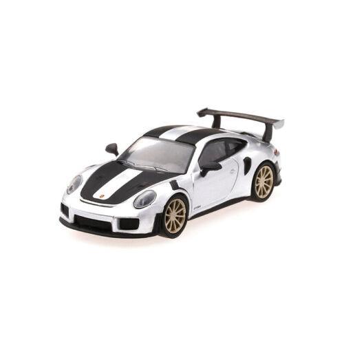 GT2 RS silber TSM-Models 63 Porsche 911 991 II LHD Mini GT Serie 1:64NEU!°