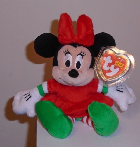 Ty Beanie Baby - MINNIE MOUSE (Holiday Outfit - Walgreens Exclusiv)(7 Inch) MWMT
