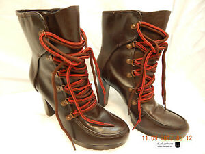 a-n-a-LACE-UP-BOOTS-SIZE-9M-PREVIOUSLY-OWNED-LIGHTLY-USED-STEAMPUNKISH-AS-IS