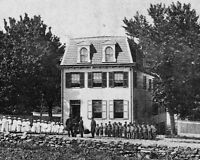 8x10 Civil War Photo: Gen. Ulysses Grant, Others At Orphanage In Gettysburg