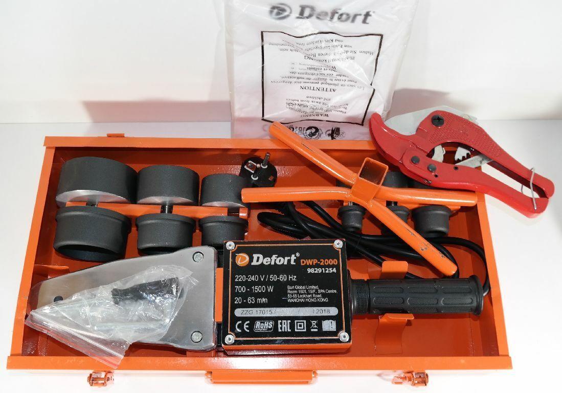 Defort DWP-2000 Muffenschweißgerät 700-1500 W  220-240 V, 50-60 Hz Schweißen