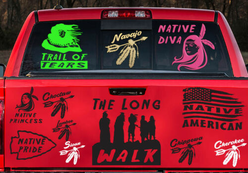 Native American The Long Walk Navajo Pueblo Hopi Zuni  Indian sticker decal