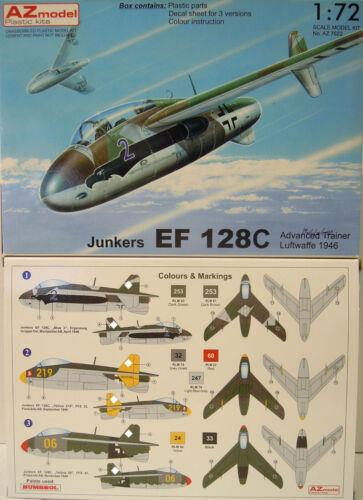 AZ-Model Luftwaffe 1946 Junkers EF-128 C,Trainer limitiert * NEU* 1:72