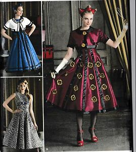Simplicity-8187-Party-Dress-Pattern-Dr-Who-Cosplay-Costume-R5-or-H5-Sizes