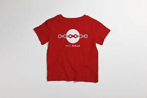 Mini Bike Ninja-chaîne Liens Cyclisme T-shirt Lil Rippers Jeunes Enfants Enfant-afficher Le Titre D'origine